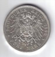Germany Hessen 5 Mark 1899 Rara D.3464 - Taler & Doppeltaler