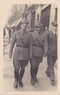 MIL674  --  ITALIA   --      PHOTO  PC  --  OFFICERS WITH GUN  --  1942 - Guerra 1939-45
