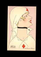 CROIX-ROUGE - Infirmière - Carte Dessinée Par Marthe BUHL - Croix-Rouge