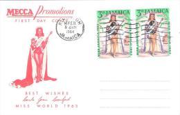 FDC De Jamaïque 14/08/1964 Thème Miss Monde (Miss World 1963) - Jamaique (1962-...)