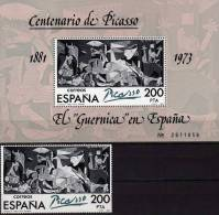 Pablo Picasso 1981 Spanien 2520 + Block 23 Typ I ** 6€ Gemälde Des Maler ElGuernica Bf Art Bloc Painting Sheet Of ESPANA - 1931-Hoy: 2ª República - ... Juan Carlos I