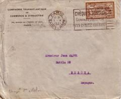 MERSON N°120-  TARIF 45c  POUR FIGUERAS ESPAGNE 2e ECHELONCDE POIDS LE 1-10-1921 - 1877-1920: Période Semi Moderne