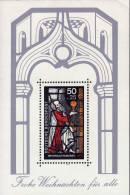 Weihnachten Glasfenster 1977 BRD Block 15 ** 1€ Fenster-Bemalung Basilika Gereon Köln Ms Bloc Christmas Sheet Bf Germany - Paintings