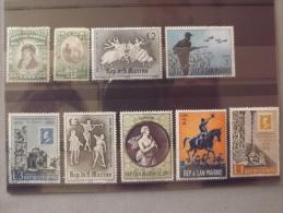 Lot N°234 Lot De 10 Timbres Oblitérés Et Neuf** De San Marin - Collections, Lots & Séries