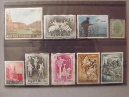 Lot N°235 Lot De 9 Timbres  Neuf** De San Marin - Collections, Lots & Séries