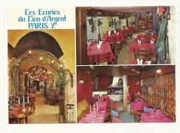 Cp, Restaurant, Les Ecuries Du Lion D'Argent - Paris (75), Multi-Vues - Restaurants