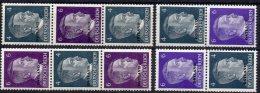 II.WK Hitlers Aufdruck Deutsches Reich 1941 Besetzung Ostland ZD 1/4 ** 16€ Overprint Se-tenant Of Old Germany III.Reich - WW2