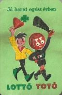 GAMBLING * LOTTERY * FOOTBALL POOL * SOCCER * SPORT * FOUR LEAF CLOVER * CALENDAR * Sportfogadas 1961 * Hungary - Petit Format : 1961-70