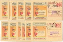 Used Postcard, 12 Diff. Language, Festival Of Lights, Deepawali, Celebration, Energy Light Decoration,Food Dep, Meghdoot - Other