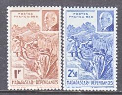MADAGASCAR  210 A - B  *  VICHY - Unused Stamps