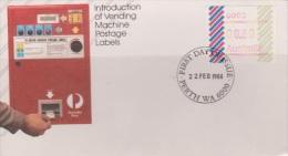 Australia 1984 Barred Edge Frama, Perth Postmark, FDC - FDC