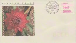Australia 1994 Waratah Frama, Sydney Postmark, FDC - FDC
