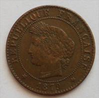 1 Centime Cérès 1879 A Cote 7 Euro En Ttb - France