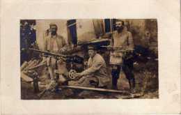 MILITARIA - PHOTOGRAPHIE DE SOLDATS, MITTRAILLEUSE - VOIR LE SCANNER - Documents