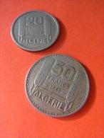 ALGERIE FRANCAISE / LOT 50 FRANCS + 20 FRANCS / 1949 - Monnaies