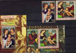 Kinder Christmas 1972 Cranach Äquatorial Guinea 173/80A/B, Block 42+43 O 9€ Bloque M/s Art Bloc Painting Sheet Bf Africa - Paintings