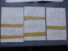 Ernest Dréolle, 187?, Au Dr Du Gaulois, 3 Pages Autographes Affaire Des Biens Famille D'Orléans ; Ref 857 - Autographes
