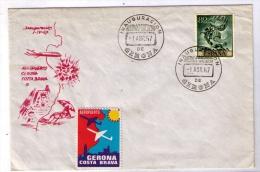 ESPAÑA 1967 - FDC INAGURACION DEL AEROPUERTO DE GERONA - Aviones