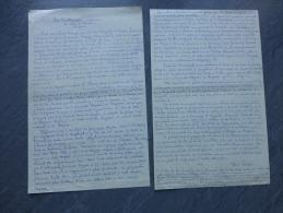 René Lespès, TOP Manuscrit 2 P De L´orthographe Anglaise Du Nom D´ARZEW; Ref 859 - Autographes
