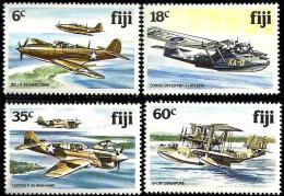 FIJI ISLANDS AIRPLANE AIRPLANES SET OF 4 ISSUED 1980s(?) MINT SG634-7 READ DESCRIPTION   !! - Fidji (1970-...)