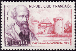 FRANCE  1960  -  Y&T  1257 - Michel De L´Hospital - NEUF**  - Cote 2e - France