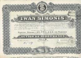 Iwan Simonis   -  1927 - Textiel