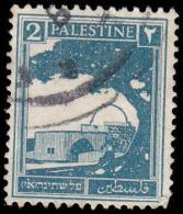Palestine Scott # 63, 2m Prus Blue (1927) Rachel´s Tomb, Used - Palestine