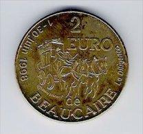 2 Euro Temporaire Precurseur De BEAUCAIRE, 1998, RRRR, Bronce, Nr. 81 - Euro Der Städte