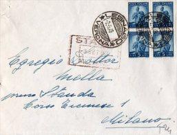 """BUSTA POSTALE COMMERCIALE-LEGNAGO-2-9-1 949--LIRE 5X4-TIMBRO """"GELATI MOTTA) - 6. 1946-.. Repubblica"""