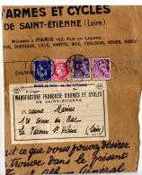 Affranchissement Mixte_tarif Total 3.50F_Novembre 1939 - Postal Rates