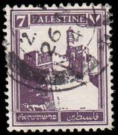 Palestine Scott # 70,72m Dark Violet (1932) Citadel At Jerusallem, Used - Palestine