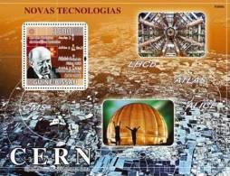 gb9306b Guinea Bissau 2009 New Technologies Quantum Mechanics W.Heisenberg s/s