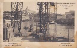 CARTE PHOTO,BOUCHES DU RHONE,NACELLE ET  PONT TRANSBORDEUR, MARSEILLE,Inaugurée En 1905,détruit En 1945,vieux Port,rare - Alter Hafen (Vieux Port), Saint-Victor, Le Panier