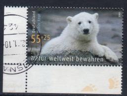 Duitsland, Mi 2656 Jaar 2008, Toeslag, Knut, Hoekblok, Zie Scan - Gebruikt