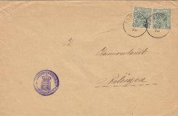 INFLA Württemberg Dienstpost 229 MeF Auf Brief  Mit Stempel: Frommern 4.NOV 1918 - Wuerttemberg