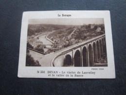 France :La Bretagne Dinan  Le Viaduc  De Lanvellay- Crème De Gruyère LA VACHE QUI RIT  Fromagerie Bel Chromo Image - Chromos