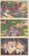 19845g ALAIN SAINT-OGAN - SCOUTISME - Série 9 Cartes - Illustrateurs & Photographes