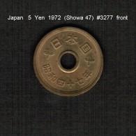 JAPAN    5  YEN  1972  (Hirohito 47---Showa Period)  (Y # 72a) - Japan