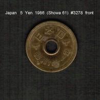 JAPAN    5  YEN  1986  (Hirohito 61---Showa Period)  (Y # 72a) - Japan
