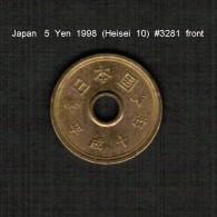JAPAN    5  YEN  1998  (Akihito 10---Heisei Period)  (Y # 96.2) - Japan