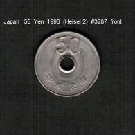 JAPAN    50  YEN  1990  (Akihito 2---Heisei Period)  (Y # 101.2) - Japan