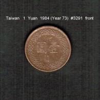 TAIWAN   1  YUAN  1984  (Year 73)  (Y # 551) - Taiwan