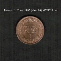 TAIWAN   1  YUAN  1995  (Year 84)  (Y # 551) - Taiwan