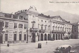 Italie - Aoste - Place Charles Albert Et Hôtel De Ville - Editeur De Giorgis Vittaz Aoste - Aosta