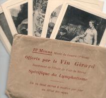 - 12 Menus Offerts Par Le Vin Girard - Serie Sur Tableaux Du Louvre - Lithos - Excellent état - Menus