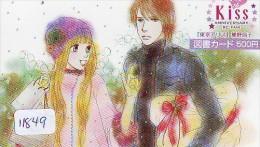 Carte Prépayée Japon * MANGA *  KISS * ANIMATE * ANIME (11.849) Movie Japan Prepaid Card Tosho Karte - Cinéma