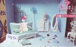 Carte Prépayée Japon * MANGA *  KISS * ANIMATE * ANIME (11.852) Movie Japan Prepaid Card Tosho Karte - Kino