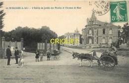 Cpa 44 St Nazaire, Entrée Du Jardin Des Plantes, Vieille Charrette à âne, Landeau..., Affranchie 1911 - Saint Nazaire