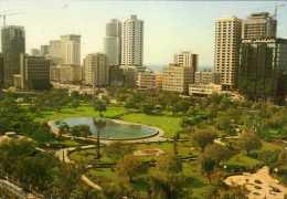 UAE - Abu Dhabi -      Jardin Avec Plan D'eau  CPM Année 1980 état Cp Impeccable - United Arab Emirates