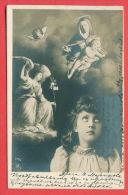 137712 / PORTRAIT LITTLE GIRL FANTASY - Virgin And Child WINGED WOMAN ANGEL - NPG 228/6 1903 SOFIA - ELENA BULGARIA - Retratos